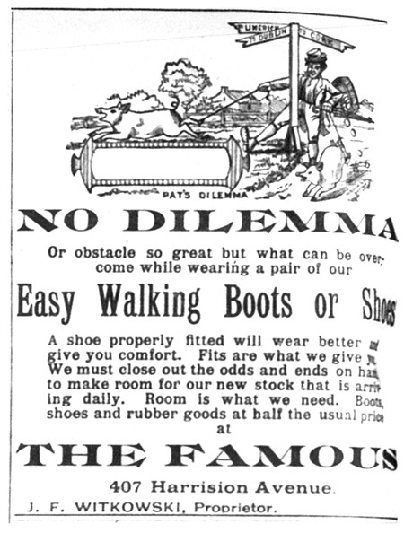 An advertisement for Julius's store.