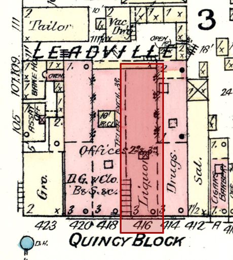 Location of the Wolf & Schayer store in the Quincy Block at 416 Harrison Avenue.